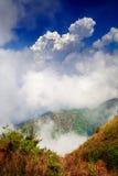 Vista dall'più alta montagna in Tailandia nel parco nazionale di Doi Inthanon Fotografie Stock Libere da Diritti