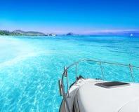 Vista dall'yacht Immagini Stock