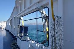 Vista dalla barca fotografia stock
