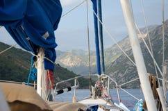 Vista dalla barca Fotografie Stock
