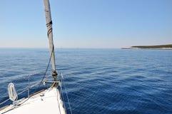 Vista dalla barca a vela Immagine Stock