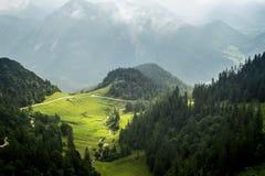 Vista dalla Baviera Germania di Herzogstand Fotografie Stock