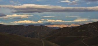 Vista dalla capanna di Pakituhi, Otago fotografia stock libera da diritti