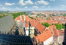 Vista dalla cattedrale della st Vitus all'est, Praga Immagine Stock