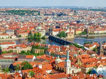 Vista dalla cattedrale della st Vitus all'est, Praga Fotografia Stock