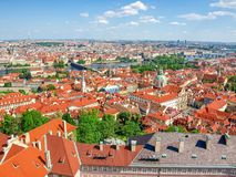 Vista dalla cattedrale della st Vitus all'est, Praguea Fotografia Stock Libera da Diritti