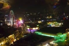 Vista dalla cima dei ferris giganti del parco di divertimenti di Prater Immagine Stock Libera da Diritti