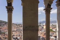 Vista dalla cima del campanile della città di spaccatura, Immagini Stock Libere da Diritti