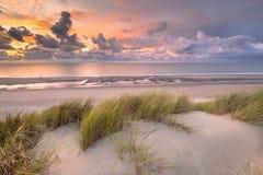 Vista dalla cima della duna sopra il Mare del Nord Fotografia Stock
