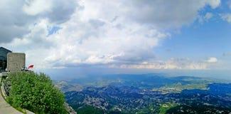 Vista dalla cima della montagna di Lovcen in Cetinje fotografie stock