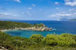 Vista dalla cima della spiaggia di Krifi AMO sull'isola della SK Fotografia Stock Libera da Diritti