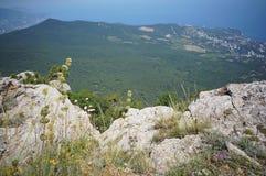 Vista dalla cima di Ai-Pétri. Fotografie Stock