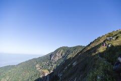 Vista dalla cima di più alta montagna in Tailandia Immagine Stock Libera da Diritti