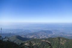 Vista dalla cima di più alta montagna in Tailandia Fotografia Stock
