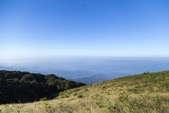 Vista dalla cima di più alta montagna in Tailandia Fotografia Stock Libera da Diritti
