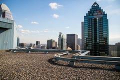 Vista dalla cima di skyscrape Montreal Immagine Stock
