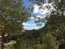 Vista dalla cima di una montagna fotografie stock