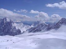Vista dalla cima di Zugspitze Fotografia Stock
