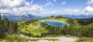 Vista dalla cima Hoess della montagna in Hinterstoder alle alpi austriache Fotografie Stock Libere da Diritti