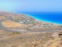 Vista dalla cima sulla località di soggiorno Fotografia Stock
