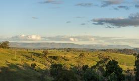 Vista dalla città della campagna di Lithgow in NSW Australia Immagine Stock Libera da Diritti