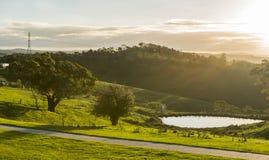 Vista dalla città della campagna di Lithgow in NSW Australia Immagini Stock