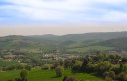Vista dalla città di Todi fotografia stock