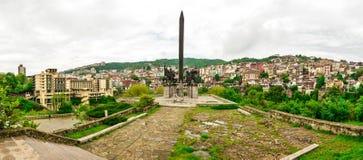 Vista dalla città Veliko Tarnovo in Bulgaria Fotografia Stock