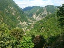 Vista dalla cittadella di Poenari Fotografia Stock