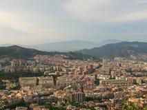 Vista dalla collina a Barcellona Fotografie Stock Libere da Diritti