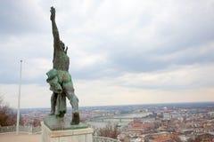 Vista dalla collina di Gellert a Budapest Immagine Stock Libera da Diritti
