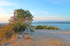 Vista dalla collina di Kamenjak La Dalmazia del Nord, Croazia Immagini Stock Libere da Diritti