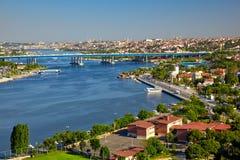 Vista dalla collina di Pierre Loti a Horn dorato, Costantinopoli Fotografia Stock Libera da Diritti