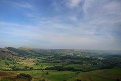 Vista dalla collina in Inghilterra, Regno Unito Fotografie Stock Libere da Diritti