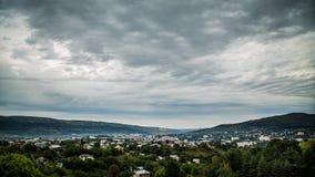 Vista dalla collina sulla città di Kislovodsk fotografia stock