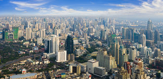 Vista dalla costruzione più alta di Bangkok Fotografia Stock