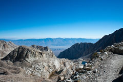 Vista dalla cresta della traccia sul Monte Whitney Fotografie Stock Libere da Diritti