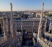 Vista dalla cupola di Milano Fotografia Stock Libera da Diritti