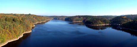 Vista dalla diga del orlik Fotografie Stock