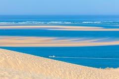 Vista dalla duna di Pyla, baia di Arcachon Fotografia Stock