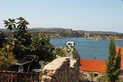 Vista dalla finestra croata Fotografia Stock Libera da Diritti