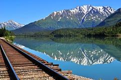 Vista dalla finestra del treno fotografie stock