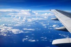 Vista dalla finestra dell'aeroplano Fotografie Stock Libere da Diritti