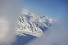 Vista dalla finestra dell'elicottero, regione di Jungfrau, Svizzera Fotografia Stock