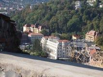 Vista dalla fortezza di cetatuia della città rumena brasov Immagine Stock