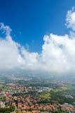 Vista dalla fortezza di San Marino Immagini Stock Libere da Diritti