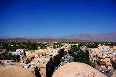 Vista dalla fortificazione di Nizwa, Oman Immagine Stock Libera da Diritti
