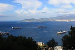 Vista dalla Gibilterra Immagini Stock
