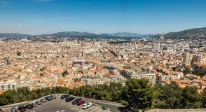 Vista dalla La Garde, Marsiglia, Francia del de di fNotre-Dame immagini stock