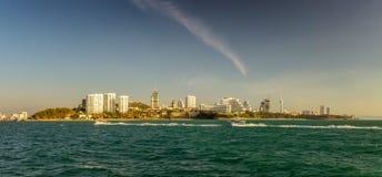 Vista dalla località di soggiorno Pattaya, Tailandia del mare Fotografia Stock